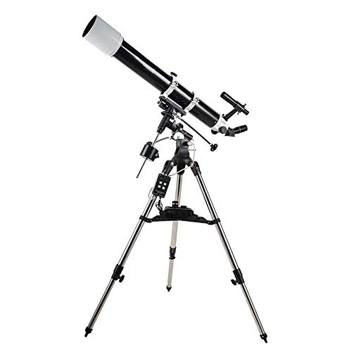 Wecnday-Sport Sky Telescopes 90DX Professional Astronomical Telescope HD Star Viewing Reflactor Monocular Astronomical Telescope View Landscape (Color : Black, Size : M)