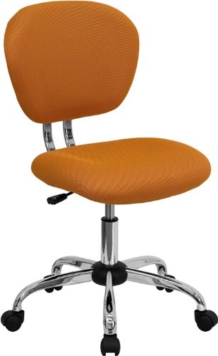 (Flash Furniture Mid-Back Orange Mesh Swivel Task Chair with Chrome Base)
