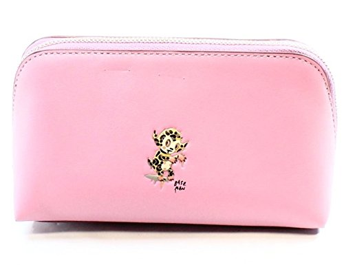 Coach X Baseman Small Cosmetic Case in Leather, Silver/Marshmallow