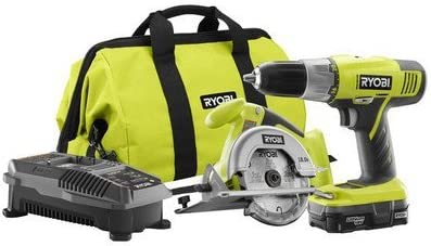 Ryobi ZRP825 ONE Plus 18V Cordless Lithium-Ion 2-Tool Starter Combo Kit Renewed