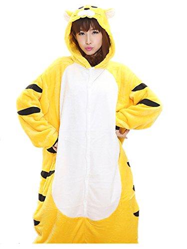 Akanbou Cute Animal Pajamas Onesies Flannel Plush Anime Pajama Cartoon Cosplay Costumes Unisex Adult Warm Sleepwear Halloween Hooded Homewear (S, (Cute Animal Costumes For Men)