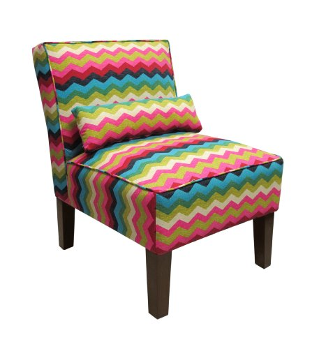 Skyline Furniture Armless Chair in Panama Wave Dessert Flower