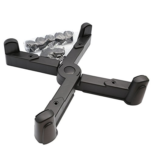 Adjustable Width ATX Computer Case Caddy Stand with 5 Caster Roller Wheels Foldable Flexible by Syba (Image #4)