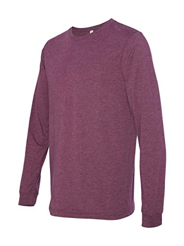 Bella + Canvas Unisex Jersey Long-Sleeve T-Shirt - MAROON TRIBLEND - M - (Style # 3501 - Original Label)