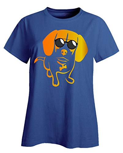 (Jack Russell Terrier Ladies T-Shirt - Pet Lovers Gift Ideas Royal Blue)