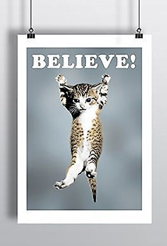 Cat Believe Poster Lego Movie A3