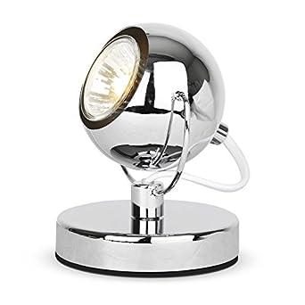 Modern Silver Chrome Eyeball Spotlight Desk / Table Lamp ...