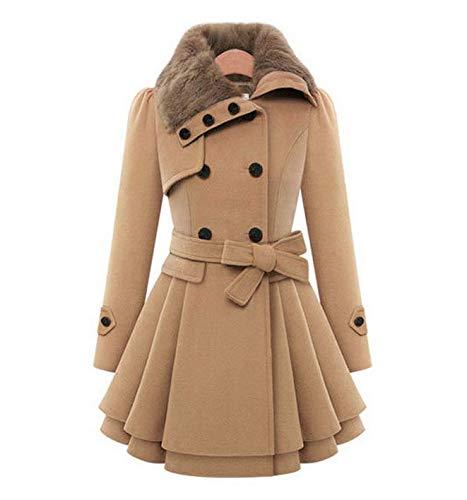 معطف شتوي للنساء صوف خليط معاطف أنثى سترة الشتاء امرأة معطف دافئ سترة واقية عادية سميكة مم