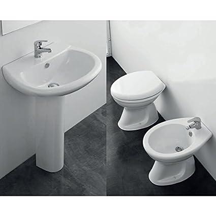Sanitari Per Bagni.Set Sanitari Bagno Completo 5 Pz Elma Uno Con Vaso Scarico Parete