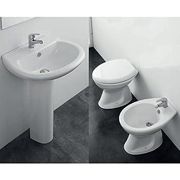 Set Sanitär Badezimmer Komplett 5 Stück Elma eines mit Vase Auspuff ...