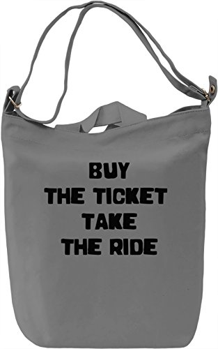 Buy the Ticket Borsa Giornaliera Canvas Canvas Day Bag| 100% Premium Cotton Canvas| DTG Printing|