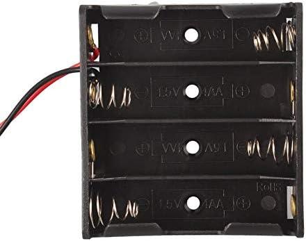 Caja de Almacenamiento de la batería de plástico Negro Profesional Soporte de Ranura para 4 Paquetes Baterías estándar AA 2A Pila Negro: Amazon.es: Electrónica