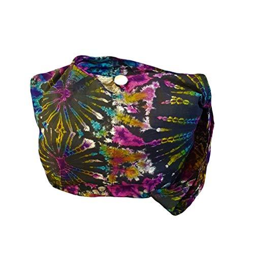 BTP! Tie Dye Sling Crossbody Shoulder Bag Purse Hippie Hobo Cotton Bohemian Colorful Firework (Double Side Firework ()