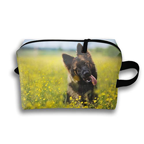 German Shepherd Portable Beauty Cosmetic Hanging Storage Sewing Kit