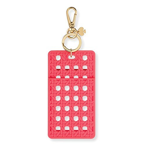 - Kate Spade New York Id Badge Clip Key Chain, Coral Caning