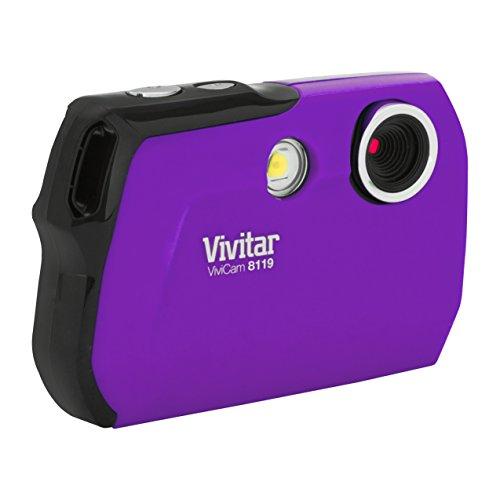 Vivitar V7122-Red 8.1 MP Digital Camera with 1.8-Inch LCD Screen and Anti-Shake (Purple)