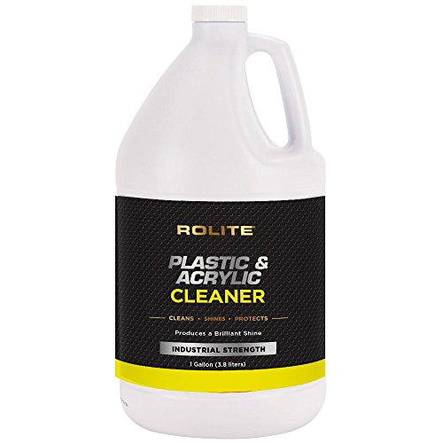 Plastic & Acrylic Cleaner (lon) for Motorcycle Windshields, Marine Eisenglass, Headlights, Retail Displays, 3D Printers & Hot Tubs/Spas (Windshield Acrylic)