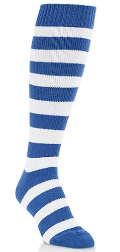 805a5e01782 Image Unavailable. Image not available for. Color  Unisex Royal Blue and  White Knitted Over the Calf Knee High Socks