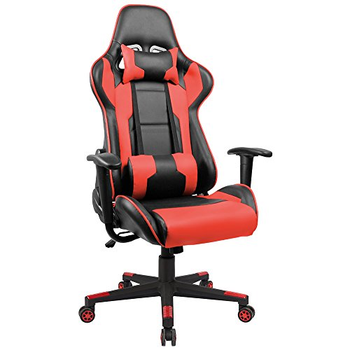 Homall Executive Swivel Leather Gaming Chair Racing Style (Large Image)