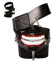 DA-HAPPY-DA M-L-Foreve Tokyo Ghoul Kaneki Ken Cosplay Mask Halloween Cosplay Props Costume 3D PU Leather Mask