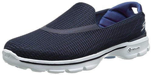 Skechers Performance Women's Go Walk 3 Slip-On Walking Shoe, Navy/White, 7.5 M US