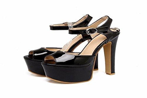 Serale Bocca Di Sexy HBDLH Estate donna A Sandali Spettacolo Modelle 16Cm Spillo Scarpe black Tavoli da Impermeabile Tacchi Pesce Ai qPaqBZ6x