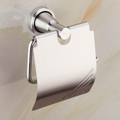 - Shelfhx Anti-shedding Design Toilet Paper Holder Wall Mounted Aluminum Towel Rack Toilet Roll Holder Tissue Rack for Hotel Houses Bathroom