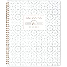 "AT-A-GLANCE 2019 Weekly & Monthly Planner, 8-1/2"" x 11"", Large, Badge Arabesque (5148C-905)"