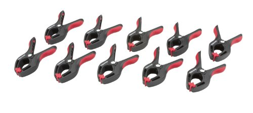 TEKTON 3901 3/4-Inch Nylon Spring Clamps, 3/4-Inch Jaw Opening, 1-Inch Throat Depth, 10-Piece