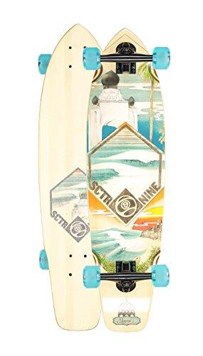 Sector 9 Bamboo Longboards - Sector 9 Swamis Complete Longboard Skateboard Cruiser (Blue Wheels, w/ Upgraded Bones Bearings)