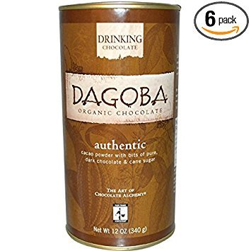 Organic Drinking Chocolate - Dagoba Chocolate Organic Authentic Drinking Hot Chocolate, 12 Ounce -- 6 per case.