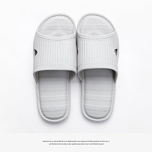 Zapatillas Macho Antideslizante Cool de Inicio Cubierta 40 41 Macho Inicio Bañera fankou a plástico de Verano Gris Baño Zapatillas Suave Parejas Inferior Mujer 8EZtAqwT