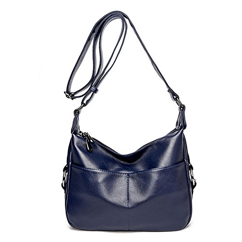 Elegant Purple Large Bag Blue Diagonal Capacity Simplicity Shoulder Meaeo Bag vPB6qWw7Y