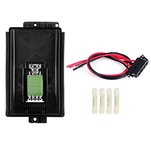 (TUPARTS Blower Motor Resistor with Harness AC Blower Control Module Fit for 2000-2006 Audi TT /2000-2006 Audi TT Quattro /1998-2010 Volkswagen Beetle /1999-2006 Volkswagen Golf)