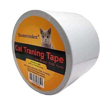 Cat scratching IHOMECOOKER Anti-Scratch Cat Training Tape, Door,Furniture,Couch... [tag]