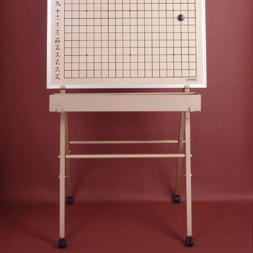 解説用大盤(方円)のスチール製組立スタンド(キャスター付)日本棋院