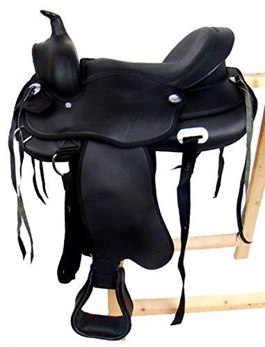 Tree Omaha Western Saddle Black Faux Leather – New
