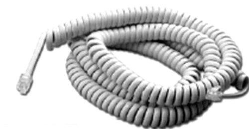 25 FT White Telephone Handset Cord, Standard ()