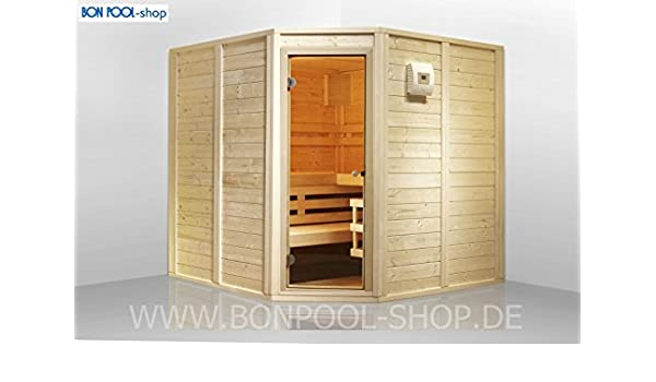 Sauna de Juego, frontal einstieg B X T x h 200 x 166 x 200 Sauna finlandesa 6 kW Bon Pool: Amazon.es: Jardín
