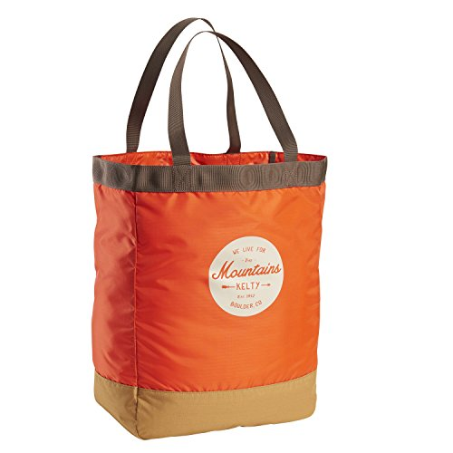 Kelty Totes Tote, Unisex Bag - Adult, Fire Orange/Canyon Brown, 30L