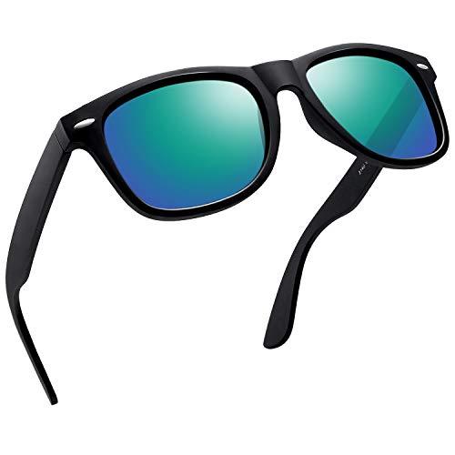 Joopin Retro Men Polarized Sunglasses Women Brand Sun Glasses Polaroid Lens With Box (Green)