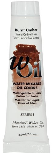 wOil 150ml Water Oil Color, Burnt Umber - Oil 150 Ml Series