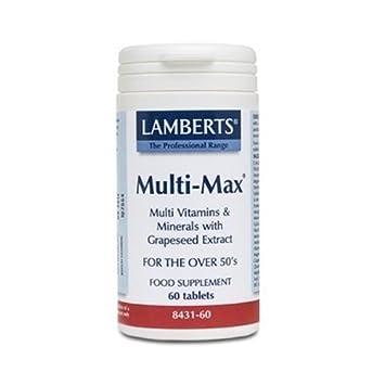 Multi-Max (Vitaminas, Minerales y Aminoácidos) (Una al Día) 60 comprimidos de Lamberts: Amazon.es: Salud y cuidado personal