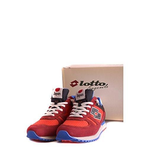 Lotto S3291 Sneakers Herren Spaltleder Rot