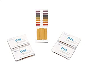 Iodine For Life PH Test Strips (1-14) 5 Books 80 Strips Each For Testing pH of Saliva, Urine, Soap, and Cosmetics. Thyroid, Breast, and Immune System Support.