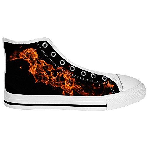 Dalliy feuer feuer Mens Canvas shoes Schuhe Lace-up High-top Sneakers Segeltuchschuhe Leinwand-Schuh-Turnschuhe B