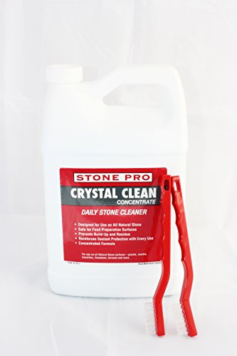 (Stone Pro Crystal Clean - Daily Stone and Tile Cleaner - Concentrate - 1 Gallon)