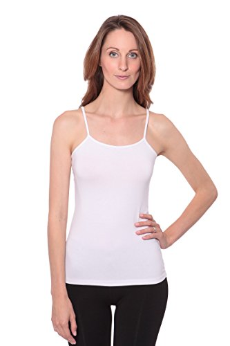 Women's Camisole Tank Tops - Bamboo Viscose Layering Top by Texere (Halona, Ultra White, Medium) Gift Ideas For Anniversary WB0301-UWH-M
