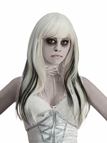 Forum Black Streaked Phantom Wig, White, One Size -