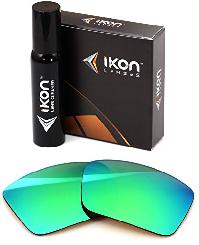 Polarized Ikon Iridium Replacement Lenses for Dragon The Jam Sunglasses - Emerald Green Mirror (Dragon Jam Lenses)